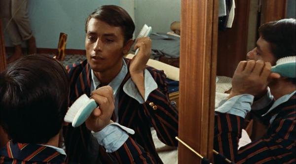 purple-noon-plein-soleil-talented-mr-ripley-1960-tom-imitates-philippe-in-mirror-criterion-review-alain-delon